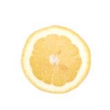 Определите кусок изолированного лимона Стоковое Фото