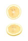 Определите кусок изолированного лимона Стоковые Изображения RF