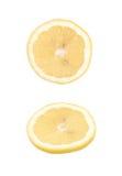 Определите кусок изолированного лимона Стоковые Изображения