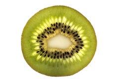 Определите кусок свежего зеленого плодоовощ кивиа изолированного на задней части белизны Стоковые Фотографии RF