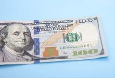Определите 100 примечаний доллара Стоковые Изображения