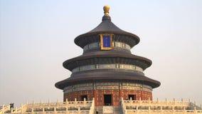 Опрокиньте к верхней части Temple of Heaven в Пекине акции видеоматериалы