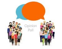 Опрос общественного мнения Стоковая Фотография