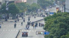 Опротестуйте для свободы в Венесуэле, против коммунизма, против социализма сток-видео