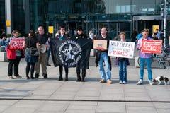 Опротестуйте общество охраны животных активистов Берлина против пользы диких животных в цирке Стоковое Фото