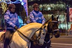 Опротестуйте против законов правосудия в Бухаресте Стоковая Фотография