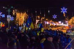 Опротестуйте против законов правосудия в Бухаресте Стоковая Фотография RF