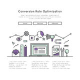 Оптимизирование или CRO конверсионного курса Стоковые Изображения RF