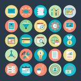 Оптимизирование маркетинга и сети интернета Vector значки 1 Стоковая Фотография