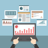 Оптимизирование сети и применения, программирование, дизайн и analyt Стоковое Изображение