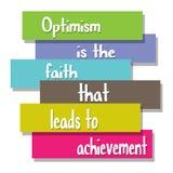 Оптимизм вера которое водит к достижению иллюстрация вектора
