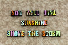 Оптимизм жизни шторма солнечности солнечный стоковые фото