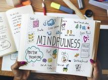 Оптимизм Mindfulness ослабляет концепцию сработанности стоковая фотография rf