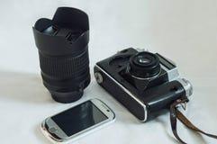 Оптические приборы различных поколений для снимать изображения стоковая фотография rf
