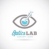 Оптический значок символа концепции вектора конспекта лаборатории Стоковое Фото