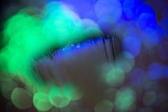 Оптический кабель в детали стоковые изображения rf