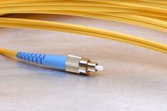 Оптический кабель с соединителем FC стоковое фото rf