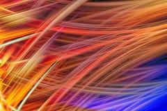 Оптически абстрактный переплетенный свет Предпосылка влияния волокон Элемент энергии силы Загипнотизируйте волны движения космиче Стоковое Изображение RF