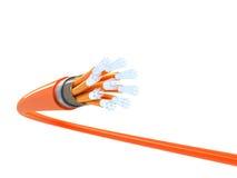 Оптически волокно 3d Стоковое Изображение