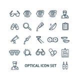 Оптически знаки чернят тонкую линию набор значка r иллюстрация вектора