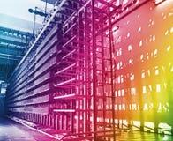 Оптически кабели и серверы сети Стоковые Фото