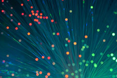 Оптически кабели и серверы сети Стоковые Фотографии RF