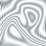 Оптически предпосылка с monochrome геометрическими линиями Картина муара Стоковые Изображения RF