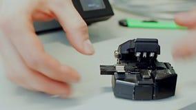 Оптическое волокно заварки видеоматериал