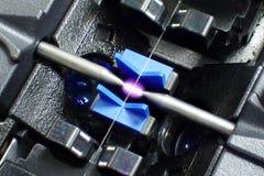 Оптическое волокно splicer сплавливания стоковое изображение