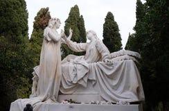 Оплакивая скульптура, кладбище в районе Дубровнике Boninovo Стоковое Фото