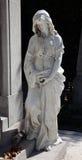 Оплакивая скульптура на кладбище Mirogoj, Загреб Стоковое Изображение RF