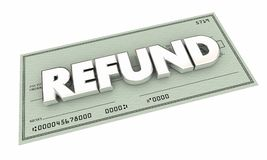 Оплата денег скидке чека на возвращаемую сумму задняя Стоковое Фото