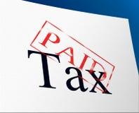 Оплаченные налоги представляют обязанности и акцизное управление подтверждения иллюстрация штока