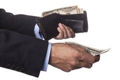 Оплачивать от бумажника Стоковая Фотография RF