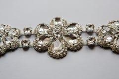 Оплетка свадьбы в серебряном цвете стоковые изображения rf