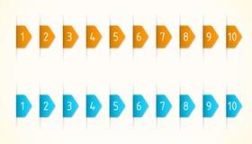 Орандж и ярлыки сини Стоковые Фото