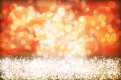 Оранжевая абстрактная предпосылка, оранжевое bokeh Стоковое Изображение