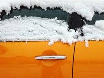 Оранжевая автомобильная дверь Стоковые Изображения