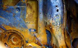 Оранжевая автомобильная катастрофа стоковые изображения rf