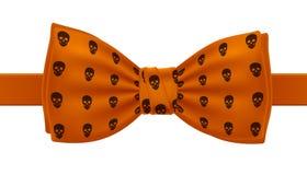 Оранжевая бабочка с печатью картины черепов Стоковая Фотография