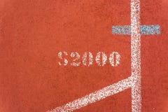 Оранжевая беговая дорожка Стоковая Фотография RF