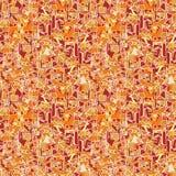 Оранжевая безшовная геометрическая текстура предпосылки вектора abcract Стоковое Изображение RF