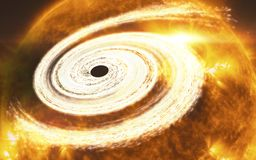 Оранжевая гигантская черная дыра Элементы этого изображения поставленные NASA стоковая фотография