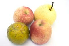 Оранжевая груша яблок стоковые фотографии rf