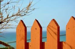 Оранжевая загородка Стоковое фото RF