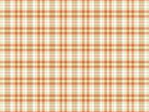 Оранжевая и белая предпосылка шотландки Стоковая Фотография RF