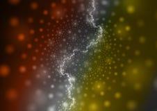 Оранжевая и желтая абстрактная предпосылка плазмы Стоковые Изображения