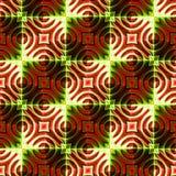Оранжевая и зеленая картина стиля Арт Деко стоковое фото rf