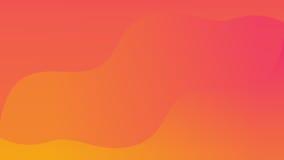 Оранжевая и розовая кривая Стоковые Изображения RF