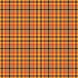Оранжевая картина шотландки Стоковые Фото